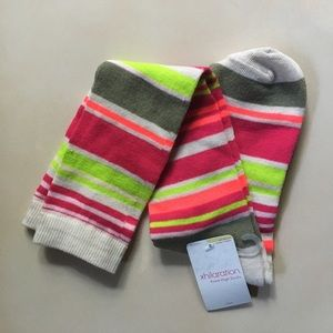 🔴 FREE w/purchase - Neon Stripe Knee Socks